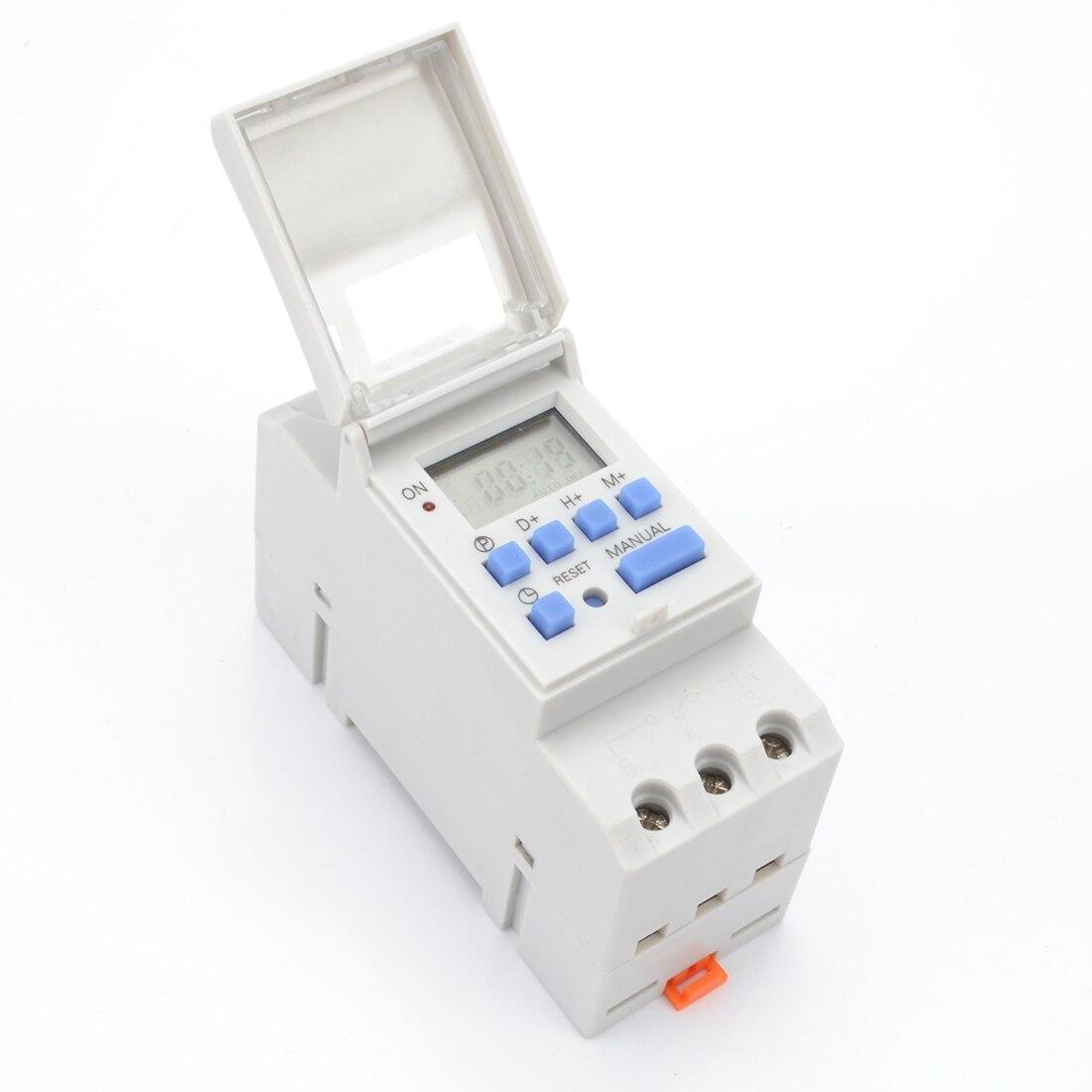 1pc Digitale Programmierbare 7 DaysTimer Schalter AC 220V 110V 230V DC 12V 16A Temporizador Schiene timer SwitchProgrammable Digital