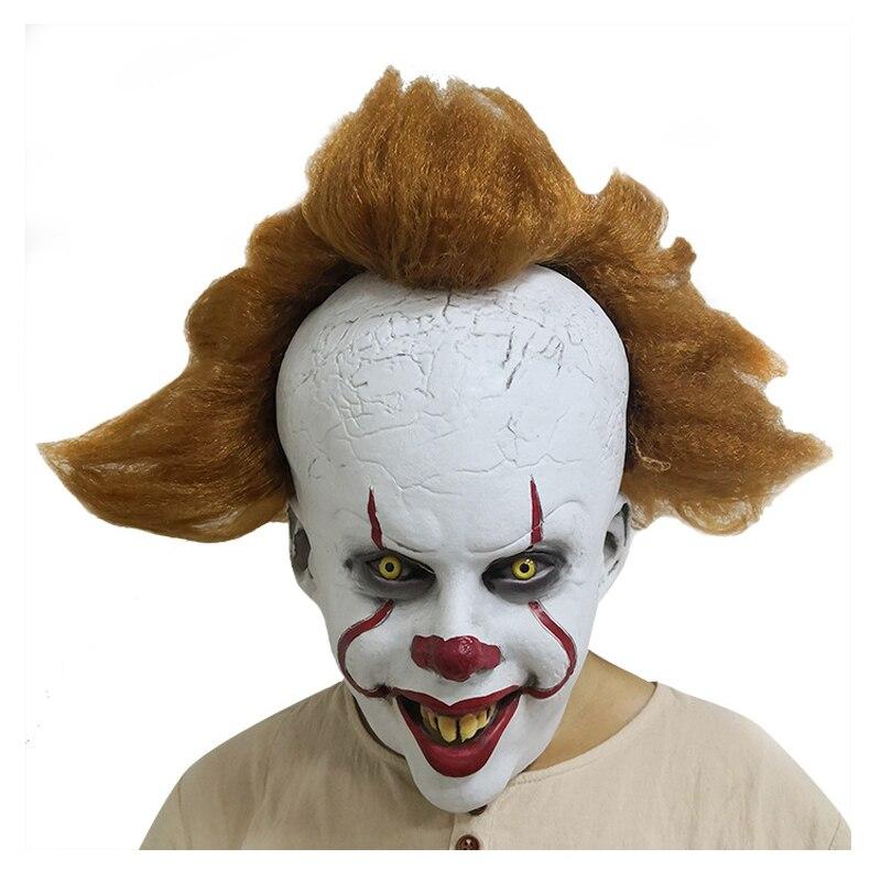 Máscara Stephen Kings It 2s Headgear máscaras de miedo divertido Halloween máscara divertida fiesta de Purim Cosplay payaso accesorios para el cabello