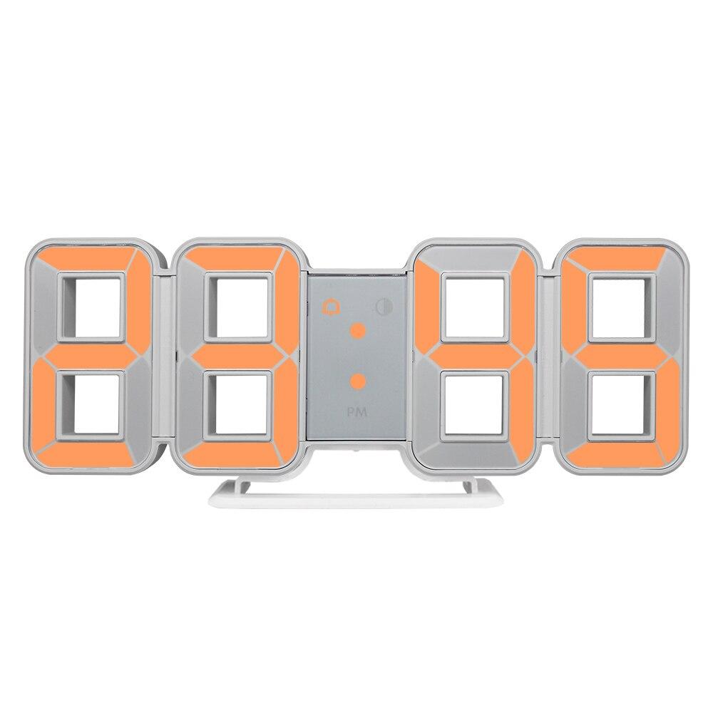 Relógio de parede 3d led grande tempo calendário temperatura mesa morden design digital relógio automático backlight casa despertadores #9