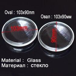 2 pçs/set 103X90mm Fog Lights Lâmpadas de Vidro Temperado Anti-fog de Vidro Branco Para Nissan Qashqai/Qashqai + 2 (J10, JJ10) 2007-2012