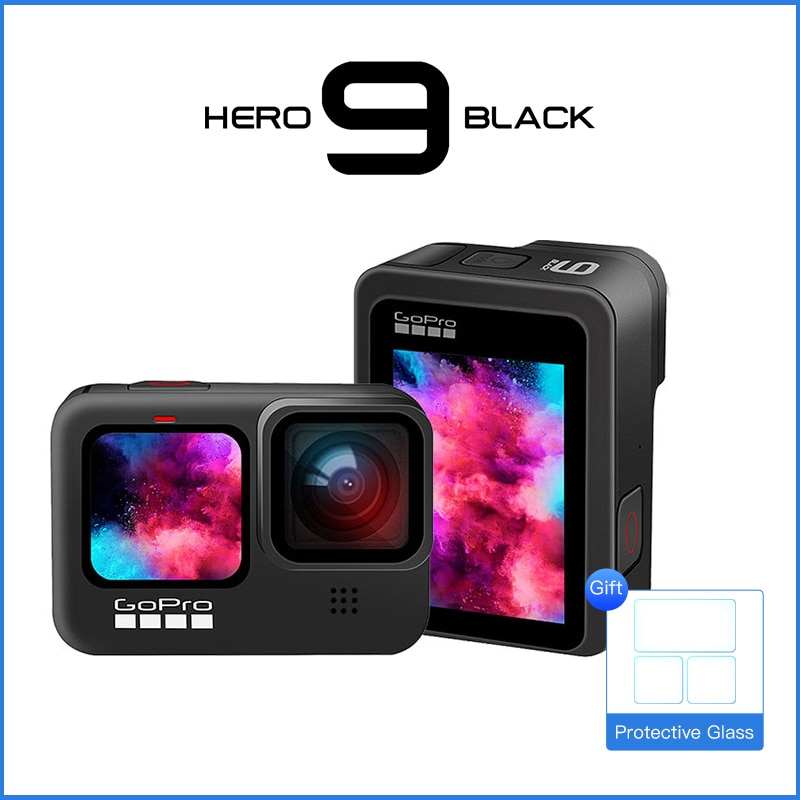Go Pro Action Camera - 5K Ultra HD Video,1080p Live Streaming,Underwater Waterproof Helmet Sport Cam GoPro Hero 9 Black