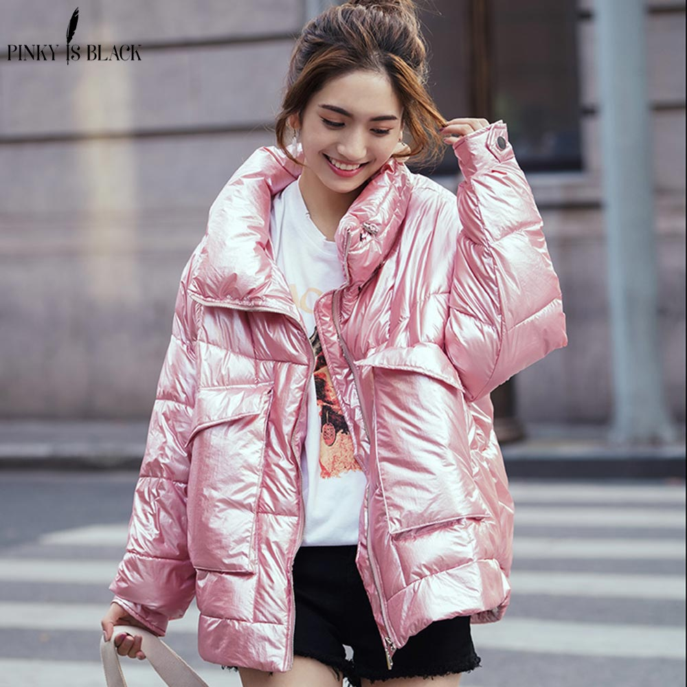 PinkyIsBlack 2020 New Collection Winter Jacket Women Thick Down Cotton Stand Collar Warm Parkas BIG Size Style Winter Coat Women недорого