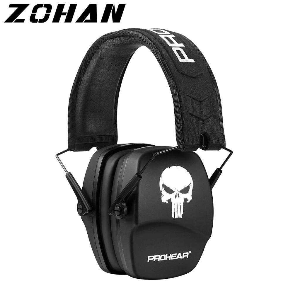 ZOHAN Ear Protection Noise Reduction NRR26db Shooting hearing Earmuffs Skull Cartoon ear muffs noise cancelling for headphones zohan noise cancelling hunting hearing protection safety earmuffs ear defenders adjustable shooting ear protection protector