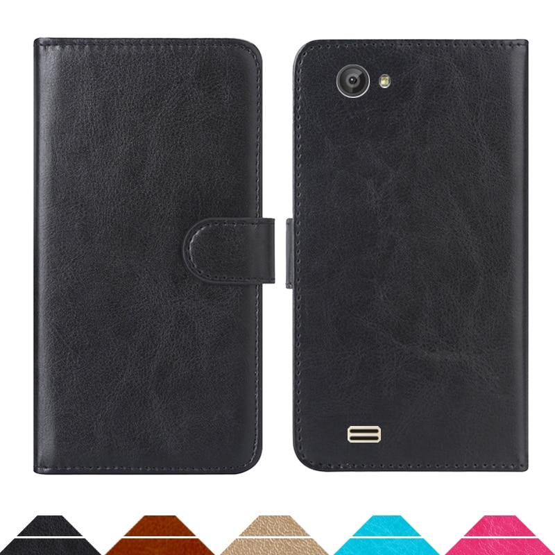 Funda billetera de lujo para Ergo B506 Intro PU cuero Retro Flip Cover fundas de moda magnética Correa