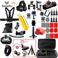 Комплект аксессуаров SnowHu для Gopro 9, штатив, монопод, нагрудный ремень, крепление на голову, Спортивная камера Go pro Hero 9 8 7 6 SJCAM Yi 4K GS21