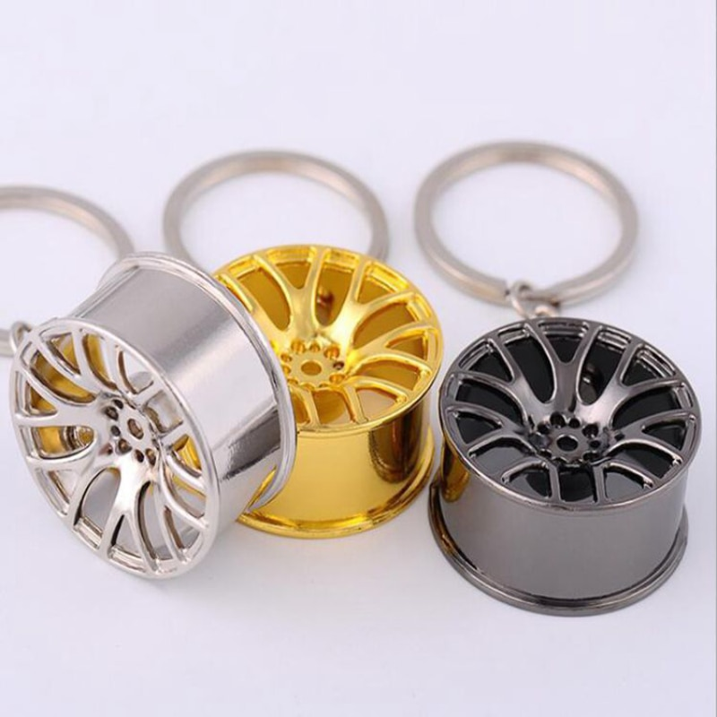 4colors Wheel Rim Keychain Key Ring 3D Keychain Creative Accessories Auto Part Model Car Keyring Key Chain For Fob Toyota