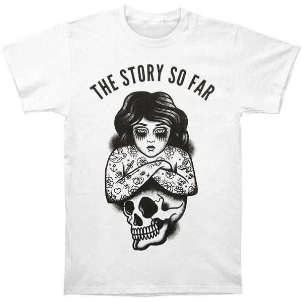 stacey my story so far The Story So Far Men's Skull T-shirt Casual Short Sleeve Men's  Fitness T Shirt- White