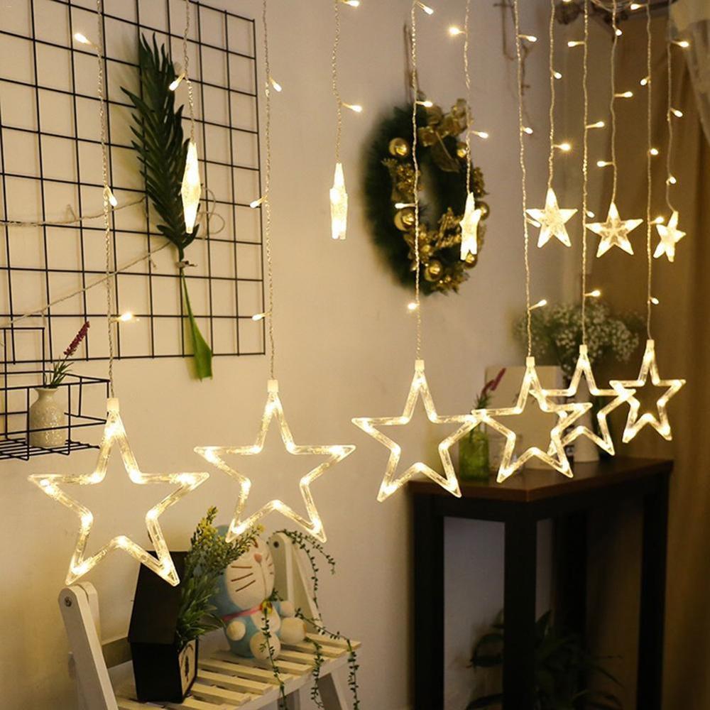 Estrela LEVOU Luzes de fadas string Natal Guirlanda levou Interior decoração luz Cordas para o Feriado de Casamento festa em casa 110V 220V