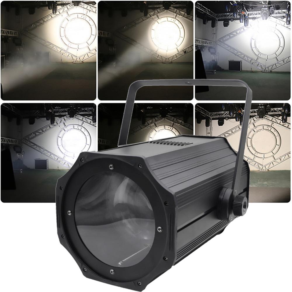 LED 200W COB Zoom Par Light Warm+Pure White Pro Stage Lighting DMX512 Control For DJ Stage Light Wedding Restaurant Theater Bar