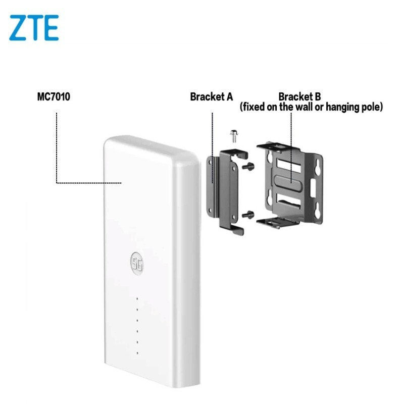 ZTE 4G 5G Outdoor Router MC7010 Sub6+4G LTE 5G NR NSA+SA Qualcomm 5G Platform Chipset Outdoor 5G CPE Router enlarge