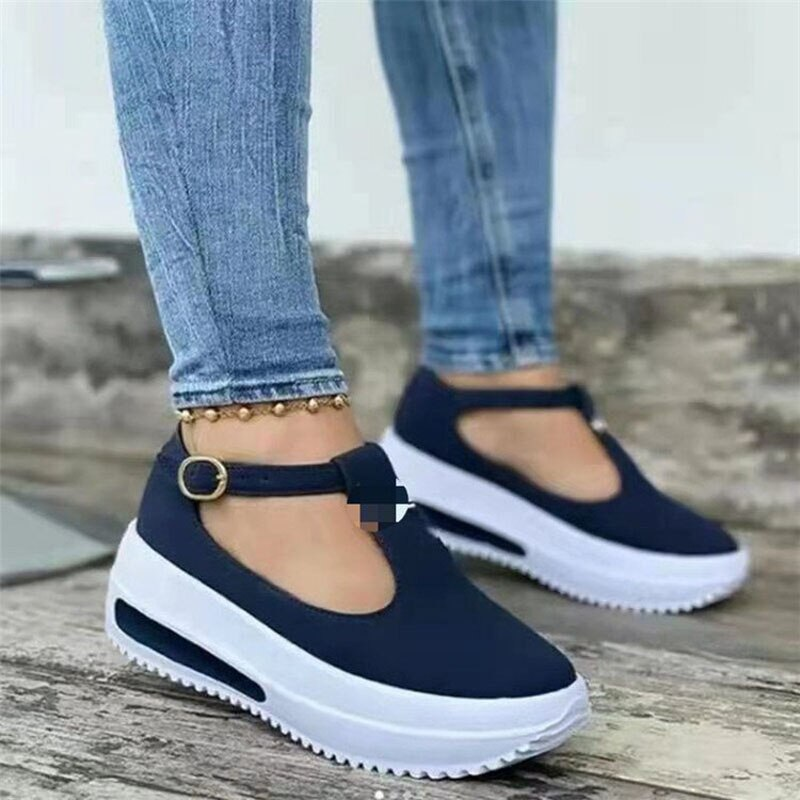 Flock Sandalias Summer Womens Sandals Vintage Wedge Shoes Woman Buckle Strap Straw Thick Bottom Flats Platform