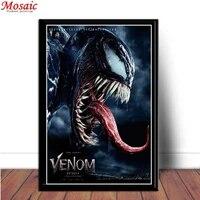 Peinture de diamant a mosaique de films dhorreur Venom  broderie complete  perceuses carrees et rondes  decoration de maison  DIY bricolage