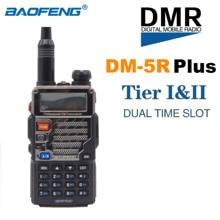 Novo baofeng DM-5R plus dmr digital walkie talkie vhf uhf dupla banda portátil rádio em dois sentidos tieri tierii repetidor dm5r transceptor