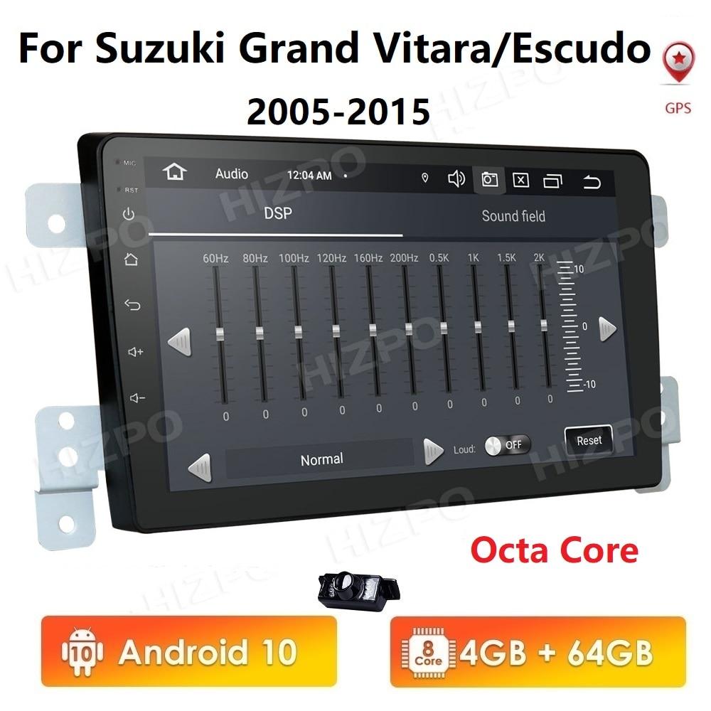 Android 2Din Car Radio Multimedia Video Player For Suzuki Grand Vitara Escudo 2005-2015 GPS Navigation usb dvr rds obd2 dtv wifi