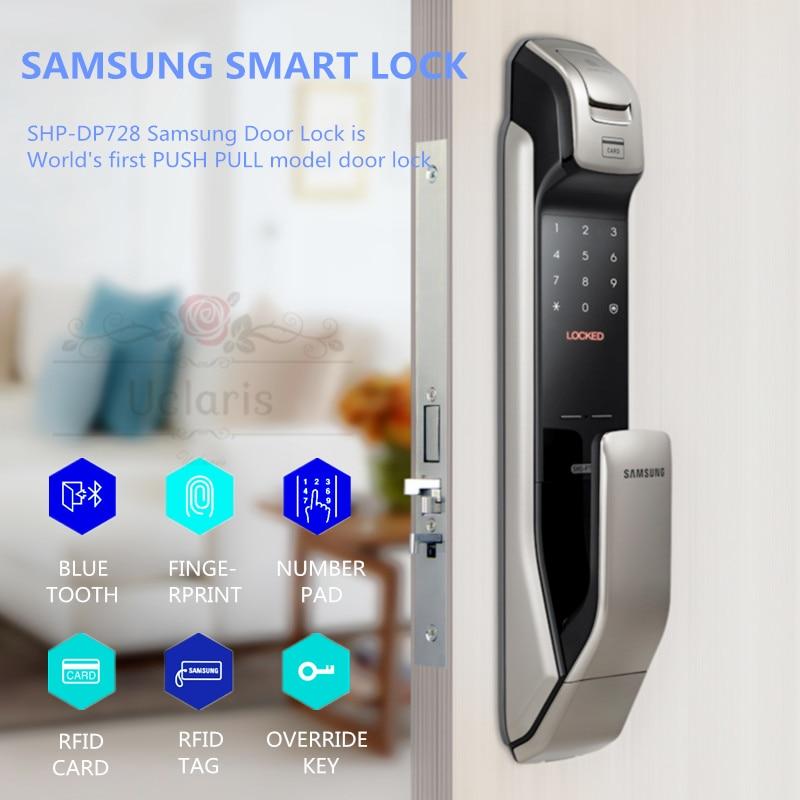 Get Samsung SHP-DP728 Smart Home Door Lock English Version Fingerprint Locks Cerradura Inteligente Fechadura Digital