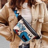 Поясная Сумка для женщин, забавные мультяшные сумочки на ремне, удобные бананки, нагрудная Женская сумочка на бедро, клатч через плечо из ис...