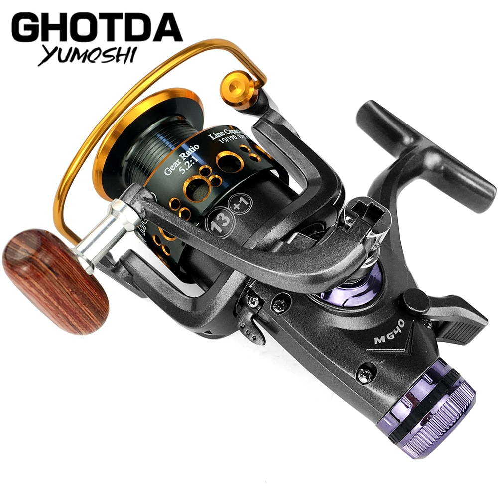 Fishing Reel Carp Spinning Reel Front and Rear Brake System Metal Spool Fishing Reels Tools Accessories