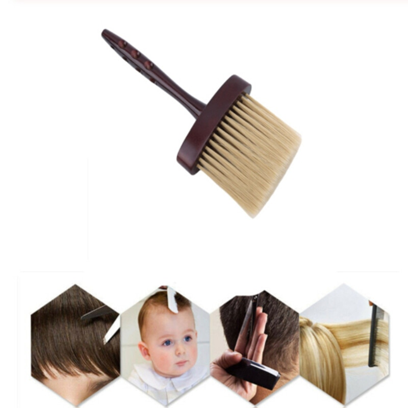 Pente de cuidados com o cabelo novo cabeleireiro barbeiro pescoço rosto espanador macio escova de corte de cabelo macio escova venda quente