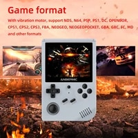 rg351v retro game console handheld video game console 8 bit 3 5inch built in 2500 games ips screen game console for kids adult