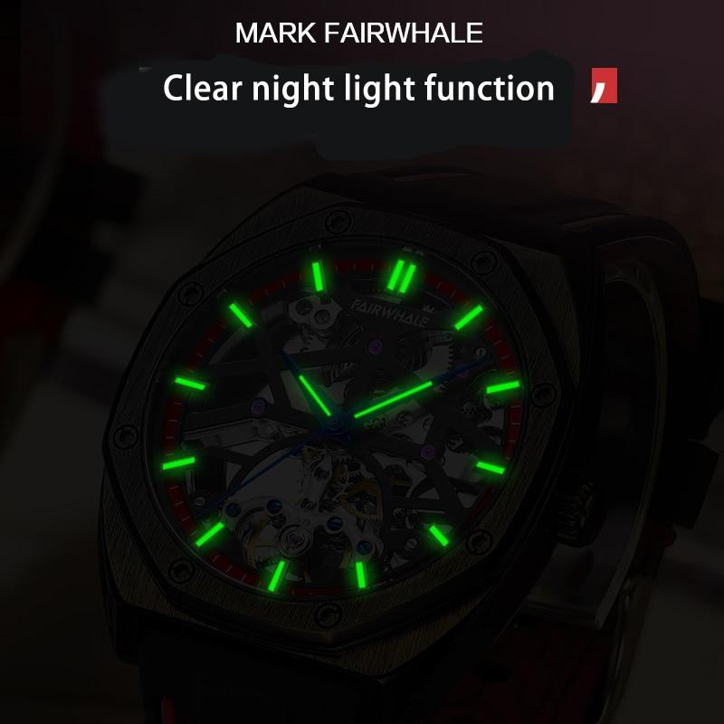 FAIRWHALE Male Watch Clock Brand Luxury Casual Fashion Auto Date 24Hour Moon Phase Sport Waterproof Mechanical Men Watch For Men enlarge