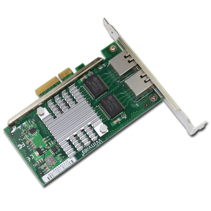 Winyao WYI350-T2V2 PCI-e X4 اثنين ميناء خادم جيجابت nic inteli350 VLAN