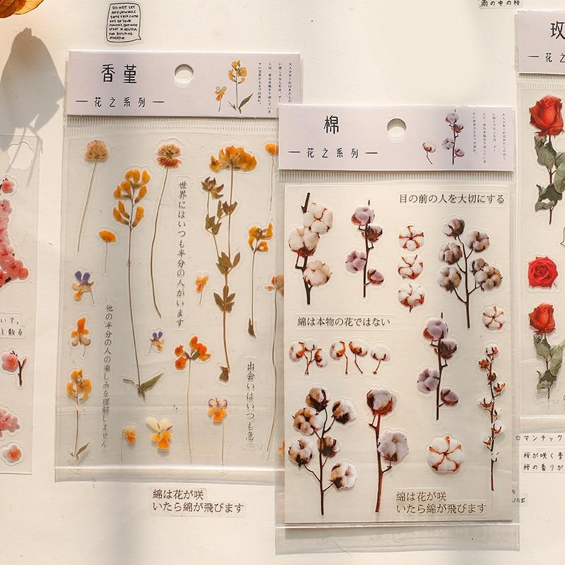 mohamm-1-fogli-pet-flat-sticker-serie-di-fiori-rosa-ciliegia-lavanda-decorativo-stazionario-scrapbooking-regalo-ragazza-materiale-scolastico