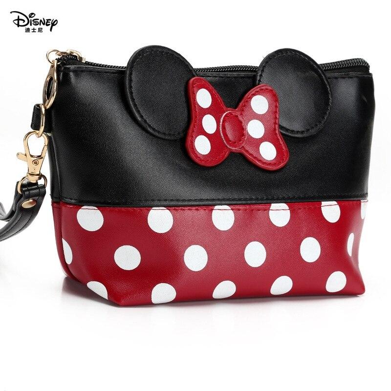 Produtos de Higiene Disney Feminino Mickey Menina Arco Dot Bolsa Bolsas Crossbody Bolinhas Pessoal Viagem Adorável