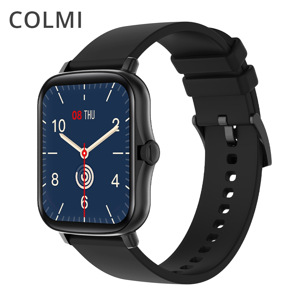 COLMI P8 Plus 1.69 inch 2021 Smart Watch Men Full Touch Fitness Tracker IP67 waterproof Women GTS 2 Smartwatch for Xiaomi phone