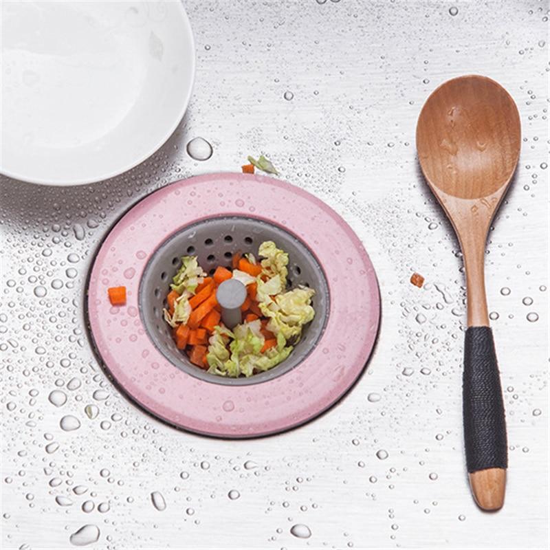 Anti-bloqueio de frutas vegetais ferramentas de silicone pia filtro de cozinha ferramentas dreno de água piso capa para acessórios de cozinha gadgets