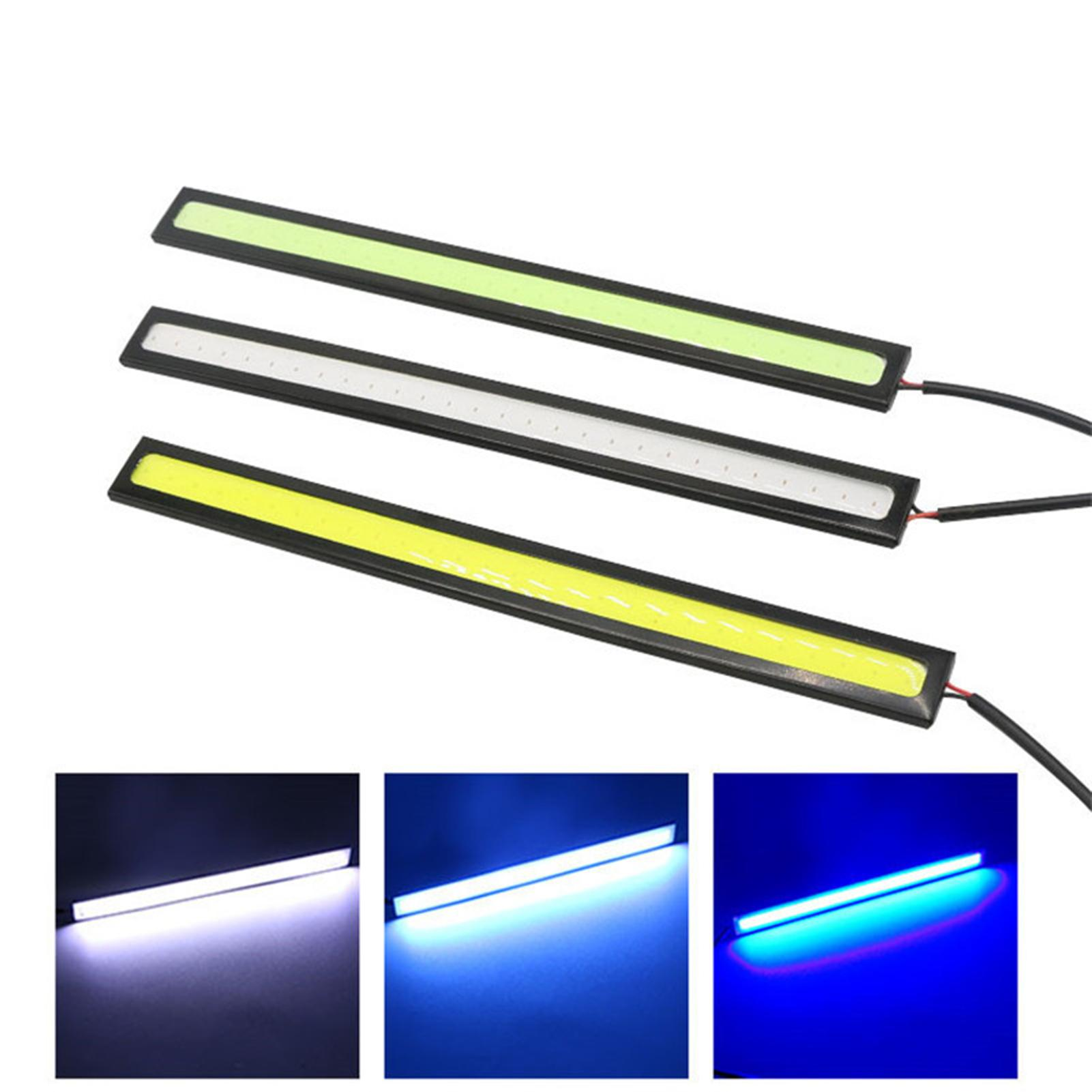 2Pcs Car Headlight LED 28 Lights Ultra-thin Waterproof COB Daytime Running Light for Universal Auto Modification