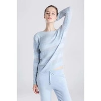 2020 o neck drawstring women s cashmere suit women fashion two piece pants new autumn and winter high end hollow knitted
