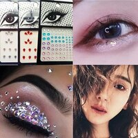 6 colors 3d sexy crystal jewel temporary diy diamond eyes festival party makeup tools eyes glitter makeup adornment sticker