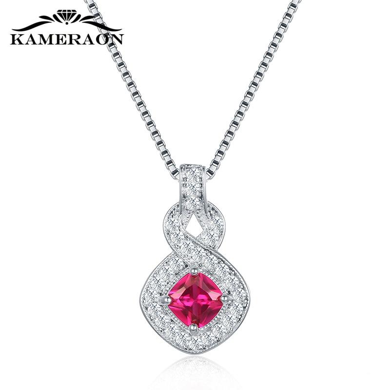 Collar con colgante de plata de ley 925, Collar de moda para mujer, piedra Jade roja, joyería para mujer, colgante de gota, caden