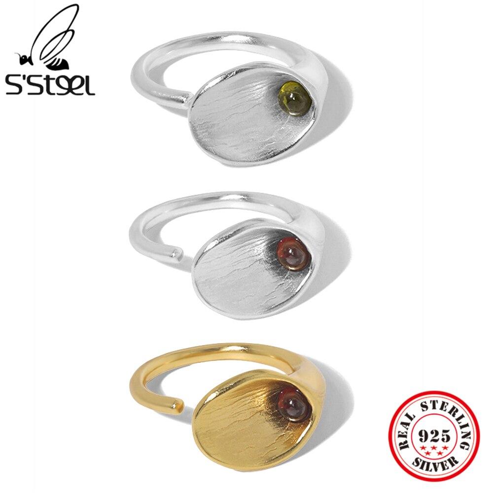 S'STEEL стерлингового серебра 925 утро циркониевое кольцо для Для женщин с обеих сторон делают эту модель очень роскошные вечерние Открытые Кол...