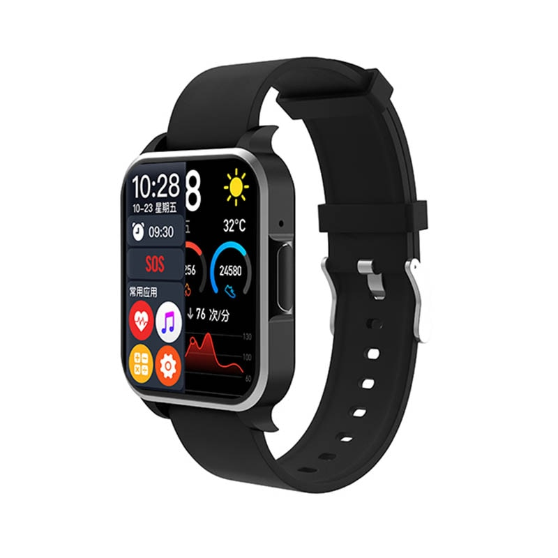 ST10D Bluetooth Smart Watch Full Touch 1.7in Screen Music Player Heart Rate Fitness Tracker Bracelet