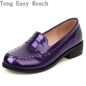Patent Women's Flat Shoes Elegant Casual Western Oxford Shoes For Women Loafers Brand Design Flats Shoes Female New 2021 Spring