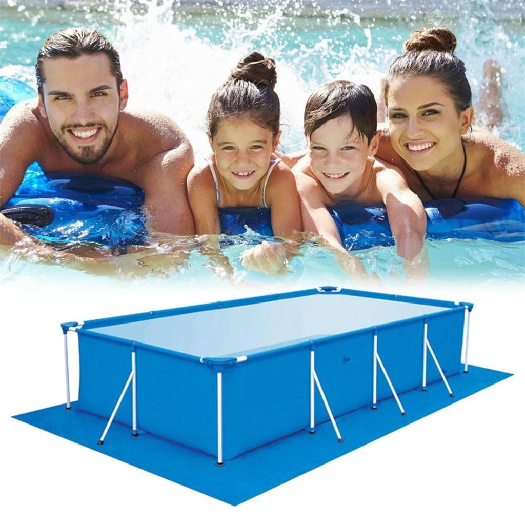 Alfombrilla estilo piscina inflable, alfombra cuadrada de tela a prueba de polvo...