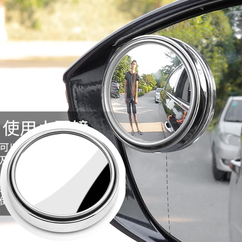 HYZHAUTO-espejo retrovisor de cristal para coche y motocicleta, cristal HD, ángulo amplio...