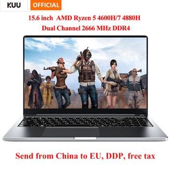 KUU G3 15.6 Inch FHD Screen AMD Ryzen 7 4800H Metal Shell 16GB DDR4 512GB SSD Fingerprint Windows 10 for Computer Programming