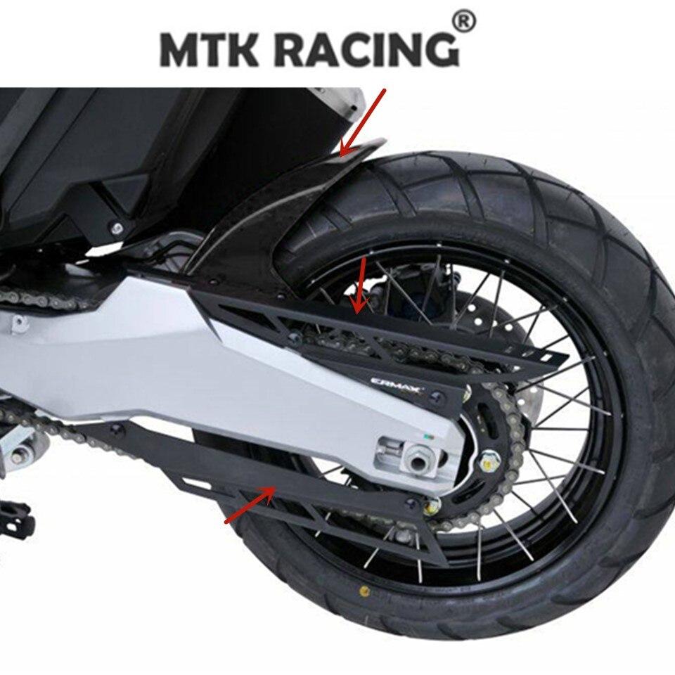 Accessoires moto Hugger arriere ermax + chaine capot aluminium anodisé 2 pièces pour Honda X-ADV X ADV 300 750 1000 2017-2019