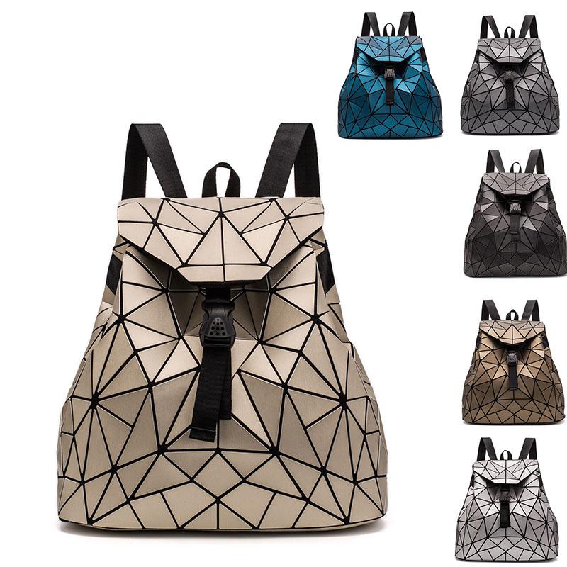 2020 new female backpack boy girl student School bag Drawstring Bag holographic laser geometric travel bag Designer Bagpack