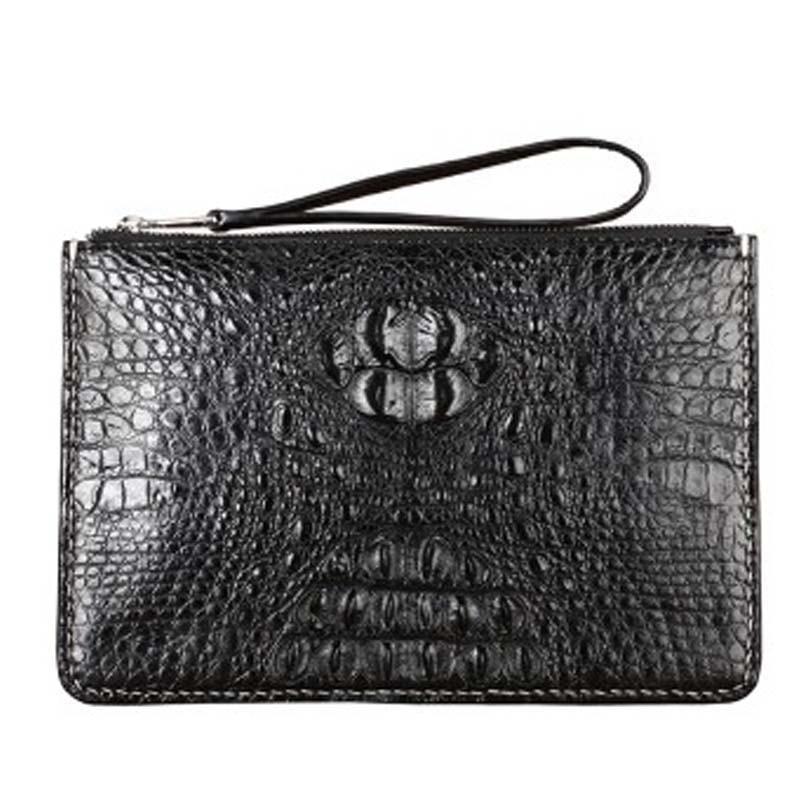 fasidu crocodile leather man clutch bag large crocodile leather large clip bag hand bag small men clutch bag