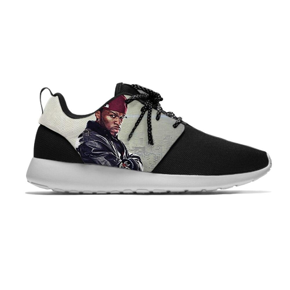 50 Cent Hip Hop rapero Popular gran deporte niños zapatos de correr Casual transpirable zapatillas de deporte de impresión niños niñas