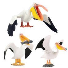 Réaliste pélican oiseau modèle Animal sauvage Figurine artisanat à la main éducation jouet cadeau pour enfants Figurine jouets Figurine poupées