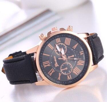 WOKAI-Reloj de pulsera de cuarzo para mujer, cronógrafo con correa de cuero,...