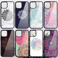 color mandala phone case pc for iphone 11 12 pro xs max 8 7 6 6s plus x 5s se 2020 xr