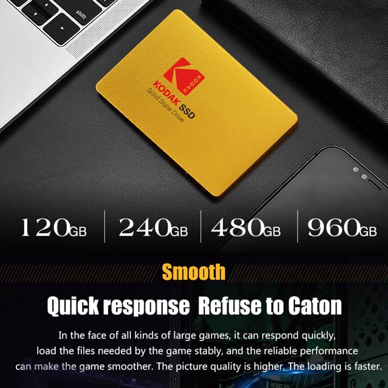 KODAK X100 2.5 INCH SATA3 120GB SSD Disk HDD SATA III SSD 480GB Metal Internal Solid State Hard Drive for laptop computer enlarge
