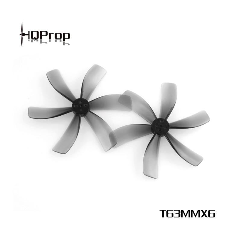 HQPROP T63MMX6 63mm 6-Blade PC Propeller Light Grey for RC FPV Racing Freestyle 2.5inch Cinewhoop Du