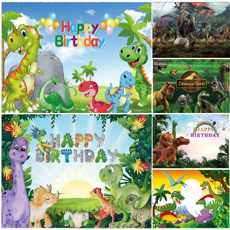 Индивидуальные динозавров фон детского дня рождения с днем рождения детей вечерние фотография фон для фото студии реквизит