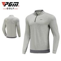 pgm autumn winter new arrival golf sportswear mens knitted plus fleece keep warm long sleeve quarter zip pullover golf jacket